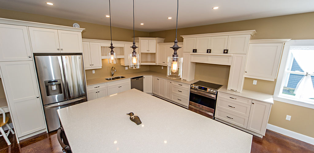 Top view of One Level Living kitchen