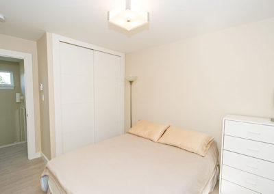 Secondary bedroom designed and built by custom house builders
