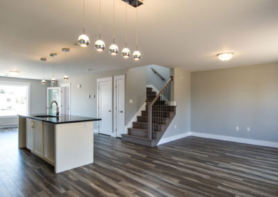Open concept dining room and kitchen perfect for first time home buyers