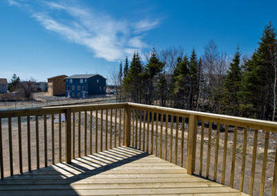 First time home buyers would love this spacious deck for get together in the summer